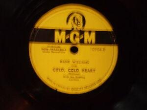 vinyl hank williams/story & cold cold heart & dear John de mgm