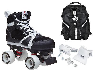 Chaya Jump Black Outdoor Quad Park & Ramp Roller Skate Backpack & Grind Bundle Black Roller Skate Men
