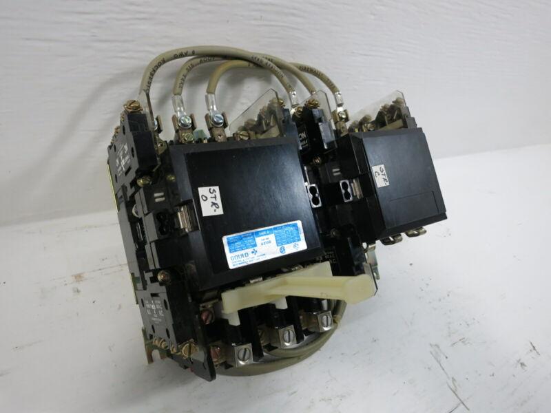 Gould A213D Size 2 Reversing Motor Starter 120V Coil 50 Amp 600V 25HP Sz2