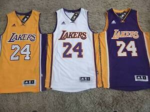 KOBE BRYANT L.A. LAKERS JERSEY #824NBA ADIDAS SMALL AUTHENTIC Dee Why Manly Area Preview