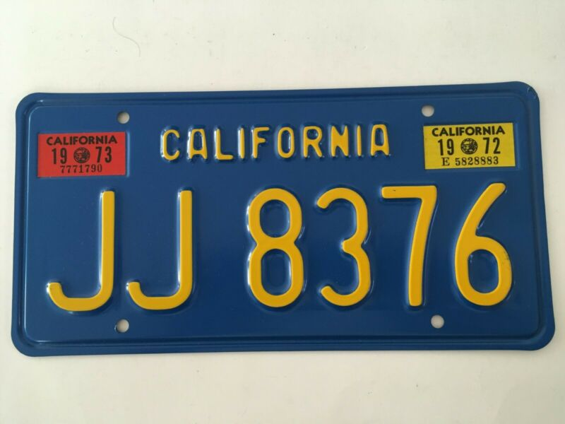 1972 1973 California Trailer License Plate MINT/NOS Original Mailer GLOSSY NICE