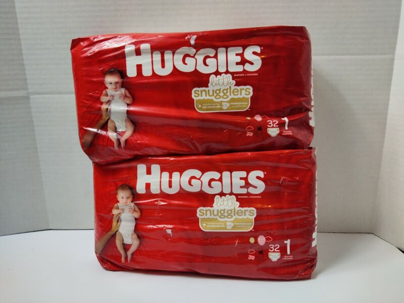 Little Snugglers Diapers, Size 1 - 64 Count