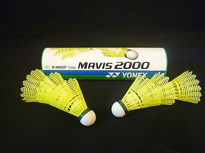 Victor badmintonball Nylon Shuttle 2000 Medium 6er Boîte Jaune Plastique Badminton