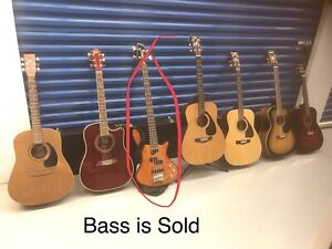 Several guitars, various prices