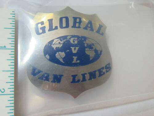 Global Van Lines Badge  vintage 1960