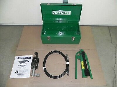 Greenlee 800 Hydraulic Cable Bender 1725 Foot Pump Case 10 Feet Hose Nice Set