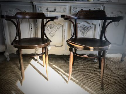 KING AND QUEEN ORIGINAL BENTWOOD CHAIRS