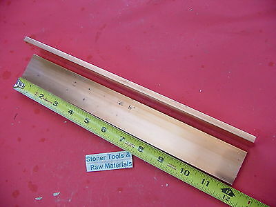 2 Pieces 14x 1-12 C110 Copper Bar 12 Long Solid Flat .25 Bus Bar Stock H02