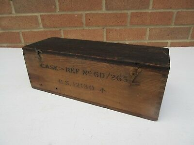 Vintage military ? small wooden box crate