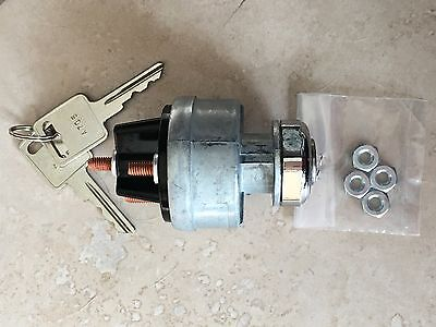 Universal Ignition Switch 12-volt 2-gm Style Keys 4 Position On Off Start Acc.