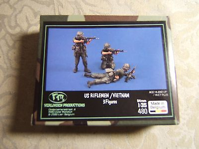 Verlinden 1/35 US Army Riflemen Infantry Soldiers Figures Vietnam Model Kit