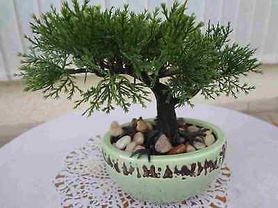Bonsai Baum Koi Saikei künstliche Pflanzen Bonsai Zeder 2 Äste 19 cm.