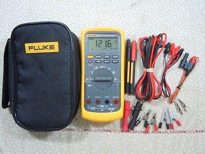 Fluke 87v Trms Multimeter Kit With Leads  Temp Probe Fluke Case - 57926.