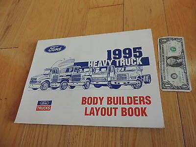 FORD TRUCK 1995 BODY BUILDERS LAYOUT BOOK SERVICE MANUAL