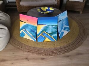 3 oil canvas painting all for $5