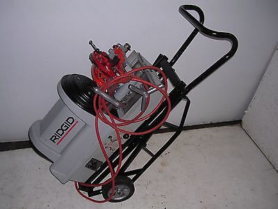 Ridgid Portable Wheeled 1822-i Auto-chucking Pipe Threader 535 Die Head 141 161