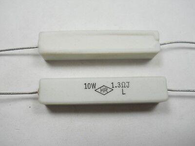 1.3 Ohm 10 Watt 5 Cement Power Resistor Nosnew Old Stockqty 10 Ead4