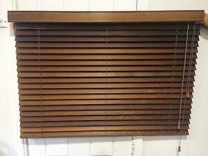 Cedar Venetian Blinds in Great Condition Bayview Pittwater Area Preview
