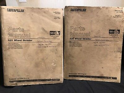 Caterpillar 525 Wheel Skidder Parts Manual Sebp2390-47 June 2002 1dn1-up