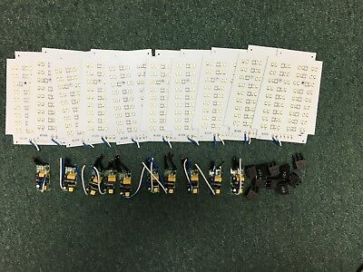 New 14watt 72- Led Lamp Components 110v 60hz Hi-low Switch And Driver- 10 Sets