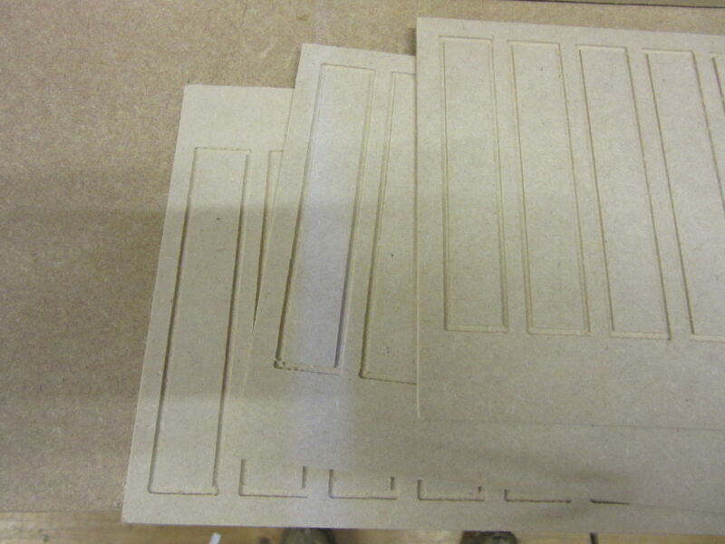 Dolls House 12th scale  Wall Panelling Tall  pack of 3  MDF102-3