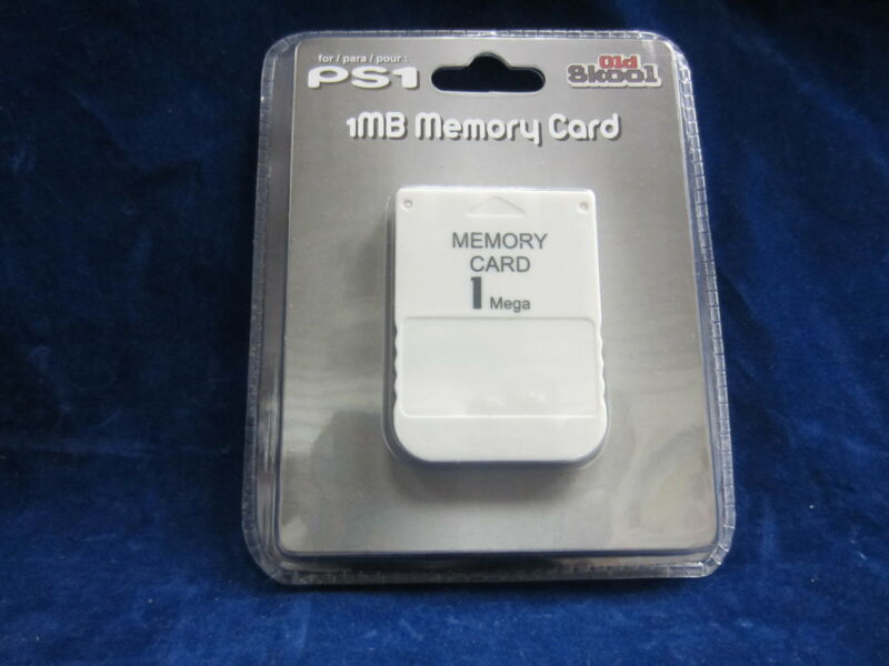 Old Skool PS1 Playstation 1 PSOne 15 Blocks 1MB Memory Card ** BRAND NEW **