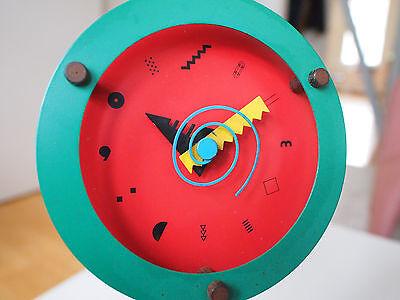 Wakita Paradise Quartz Stand Clock Memphis Design Mihara Lollipop Style 80ies