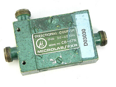 Microlabfxr Cb-67n Dual Section Wideband Air-line 10 Db Directional Coupler