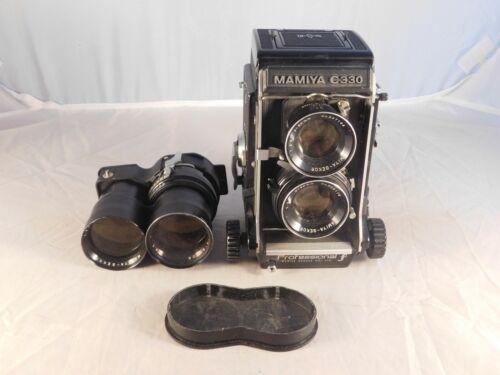VINTAGE MAMIYA C330 TLR CAMERA WITH 80mm & 18cm LENSES