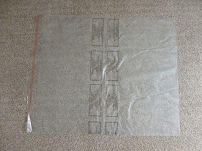X 6 CLEAR PROTECTIVE PLASTIC BAGS SHIRT JACKET SUIT TOP GARMENT 24