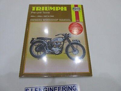 Triumph Pre-Unit Twins 5T 6T T110 T120 Tiger  Haynes Workshop manual NEW SJ375