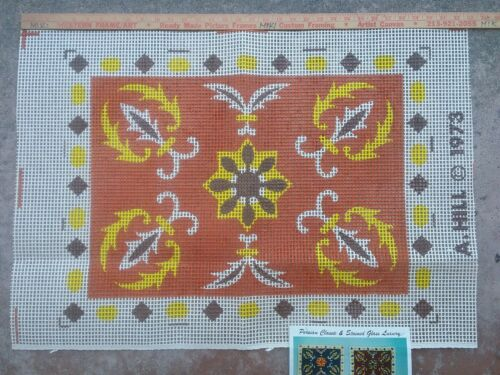 Printed latch hook Rug,Wall Hanging canvas Persian classic stained glass pattern