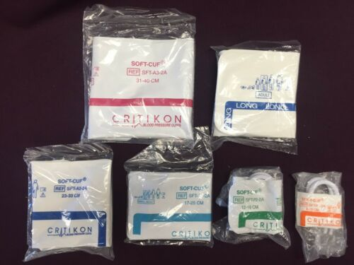 Critikon GE Blood Pressure Cuffs 2-Tube Soft-Cuf Assortment