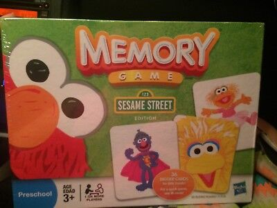 Sesame Street Memory Game (Hasbro Sesame Street Memory Game Preschool Sealed New  )