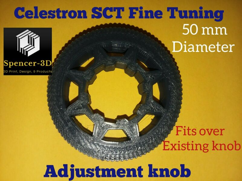 Fine Focus Knob for Celestron SCT Telescopes 50mm Dia-fits over existing knob