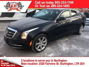 2015 Cadillac ATS Luxury, Auto, Navi, Leather, Sunroof, AWD