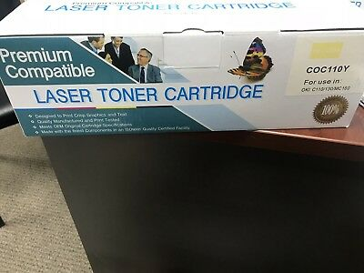 Premium Laser Toner Cartridge For OKI C110/C130n/MC130n -Yellow COC110Y 110 Laser Toner Cartridge