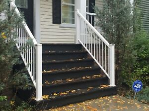 55 linear feet of 3' Aluminum deck railing -  Good condition