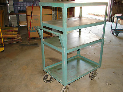 Steel Work Bench Welding Cart 47 X 36 X 24 Steel Top 4 Shelves Xlnt