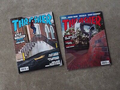 x2 Old Thrasher Magazine Issues - Skateboarding & Street Culture