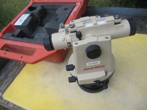 David White LT8-300 Model 8870 Universal Optical Level Transit with case