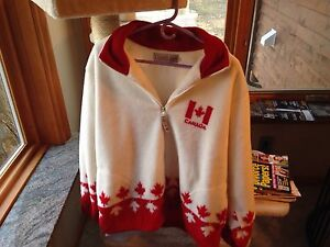Canada polar fleece zip up jacket