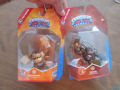 Skylanders Trap Team MASTER WALLOP EARTH & JAWBREAKER TECH LOT ULTIMATE TRAPPERS (Wallop Skylander)