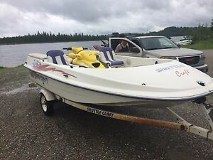 Trad shuttle craft boat for single seadoo trailer
