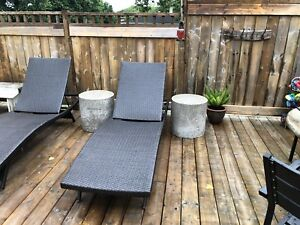 Cement outdoor tables