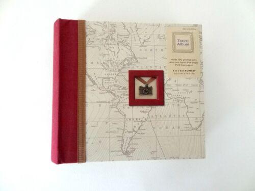 "Travel Themed Photo Album - Holds 100  4"" x 6"" Photos - Very Unique!"
