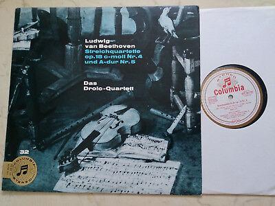 BEETHOVEN Streichquartette op.18 DAS DROLC-QUARTETT *WHITE GOLD STEREO COLUMBIA*