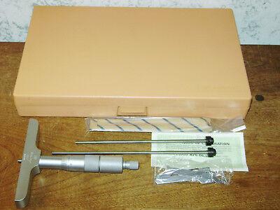 Mitutoyo 0-4 Inch Depth Micrometer Set No 129-131 W Case - Lot A