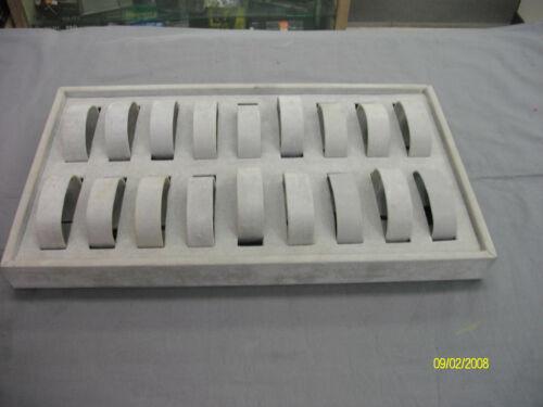 Vintage Velvet Gray 18 Watch Retail Dsiplay tray