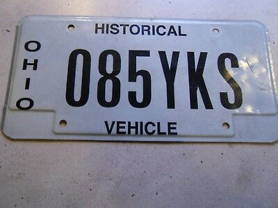 ONE VINTAGE OHIO LICENSE PLATE HISTORICAL VEHICLE PLATE NO 085YKS
